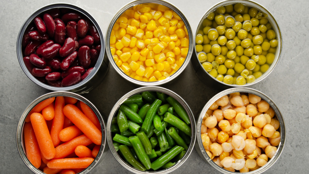 Various canned foods