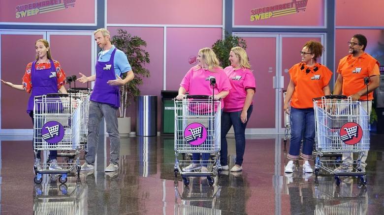 Supermarket Sweep contestants