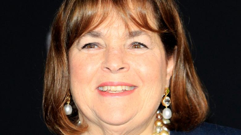 Ina Garten wears pearl earrings