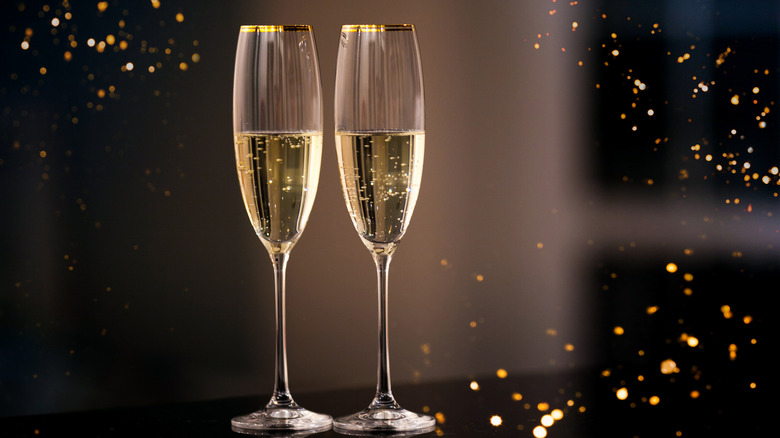 A generic photo of glasses with champagne