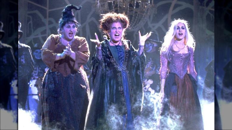 the three Hocus Pocus Sanderson sisters