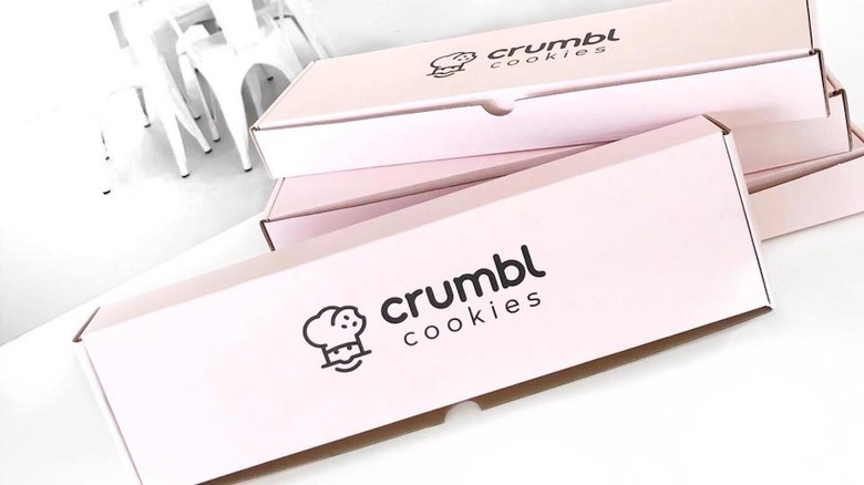 Crumbl Cookies pink cookie box