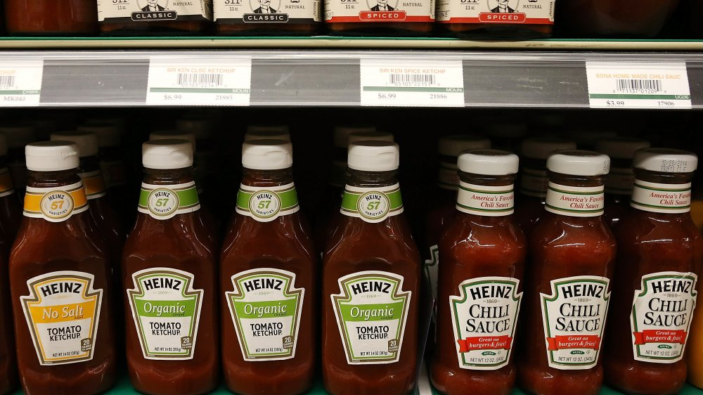 Ketchup on the shelves