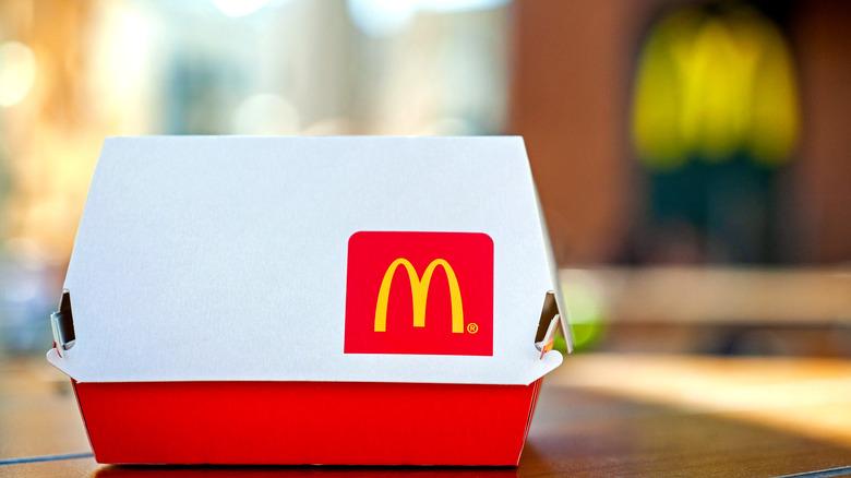 McDonald's brand box packaging