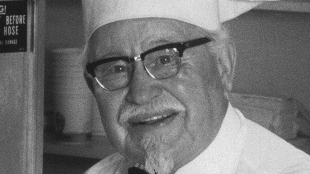 Colonel Sanders, founder of KFC, close-up