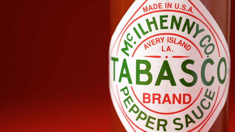 Tabasco sauce label