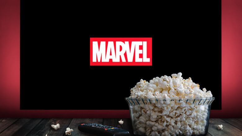 Marvel movie on the television