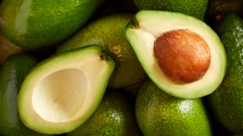 Ripe avocado cut