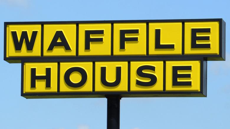 Waffle House signage