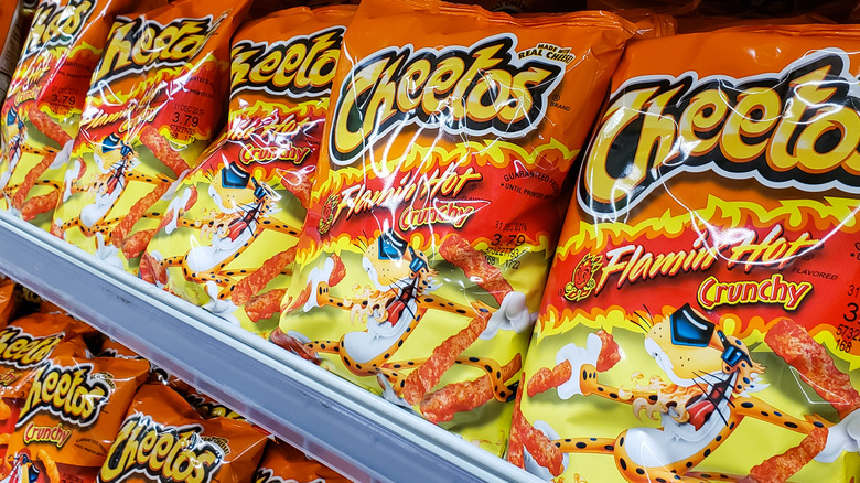 Cheetos on grocery store shelves