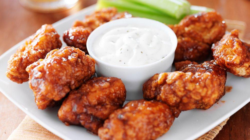 boneless barbecue chicken wings