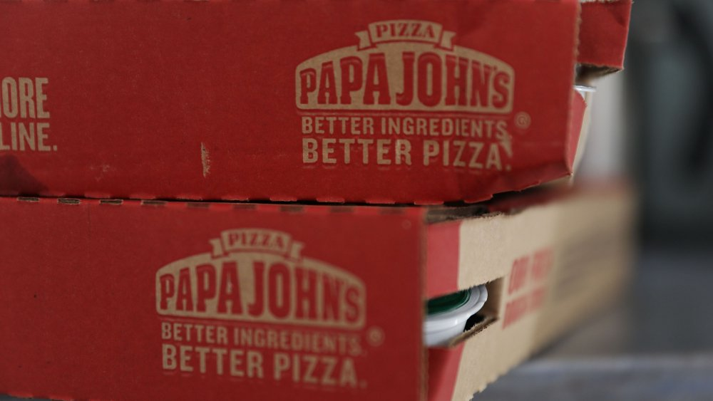 Papa John's Pizza boxes