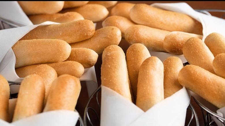 bundles of Olive Garden breadsticks