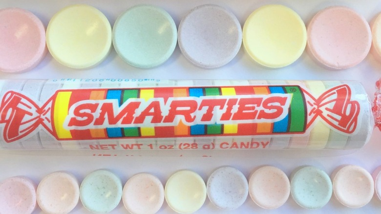 Smarties original candy roll