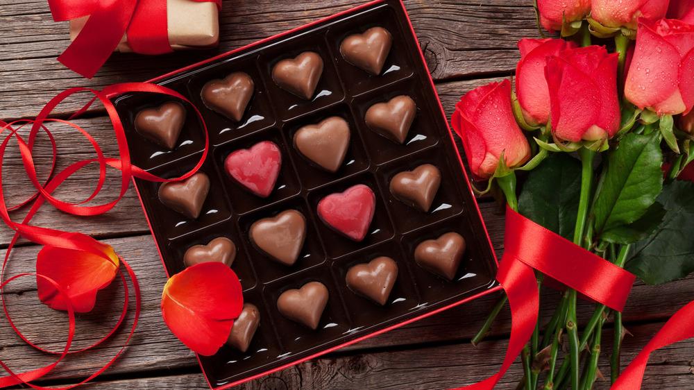 Heart-shaped Valentine's chocolates