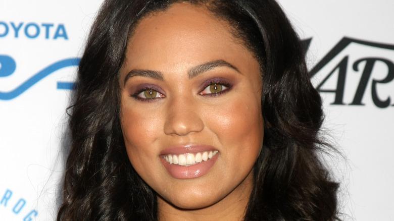 Ayesha Curry smiling