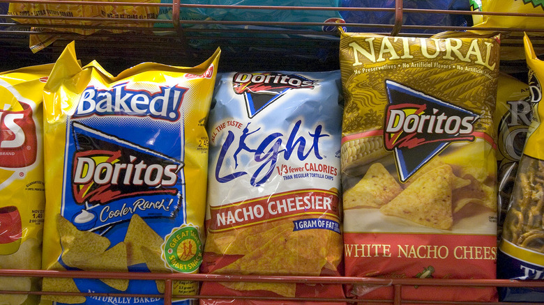 packages of Doritos Light