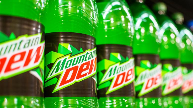 bottles of mountain dew