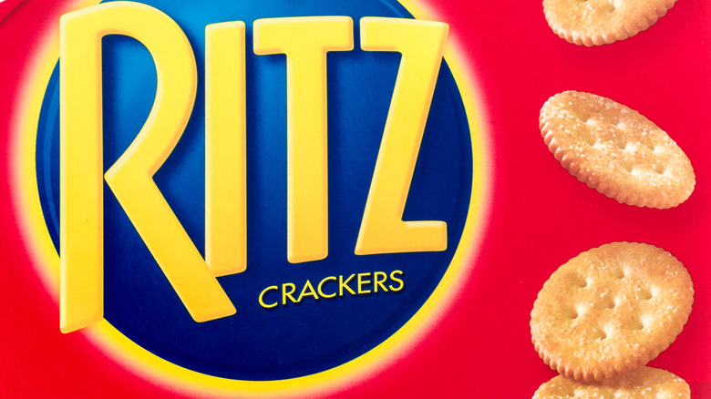 a red box of ritz crackers