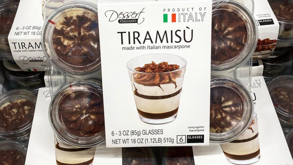Six pack of Costco Dessert Italiano Tiramisu cups