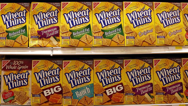 Wheat Thins on shelf