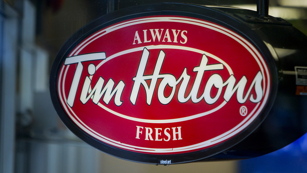 Tim Hortons electric sign