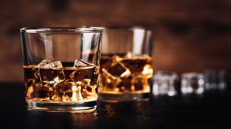 Glasses of bourbon