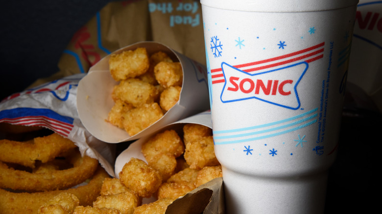 Sonic meal with onion rings
