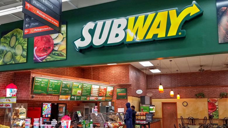 Subway chain restaurant