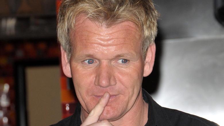 Gordon Ramsay pensive