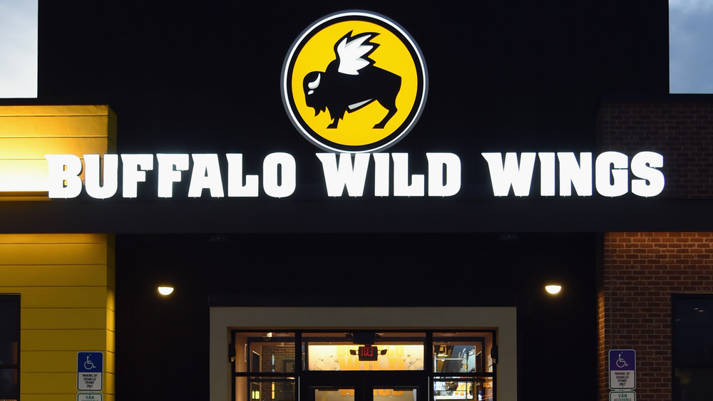 Outside a Buffalo Wild Wings outlet