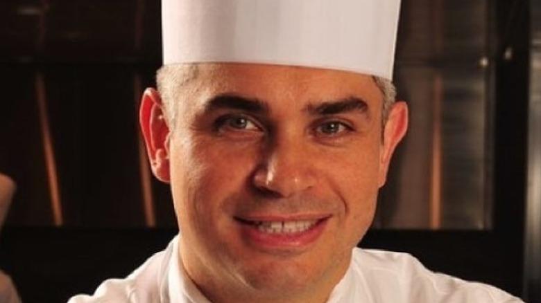 Celebrity chef Benoît Violier in white