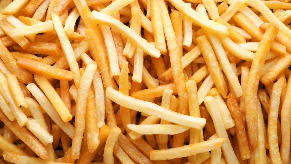 Pile of golden french fries