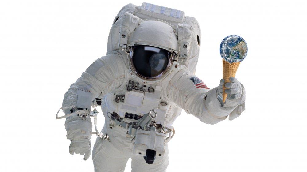 Astronaut with ice cream