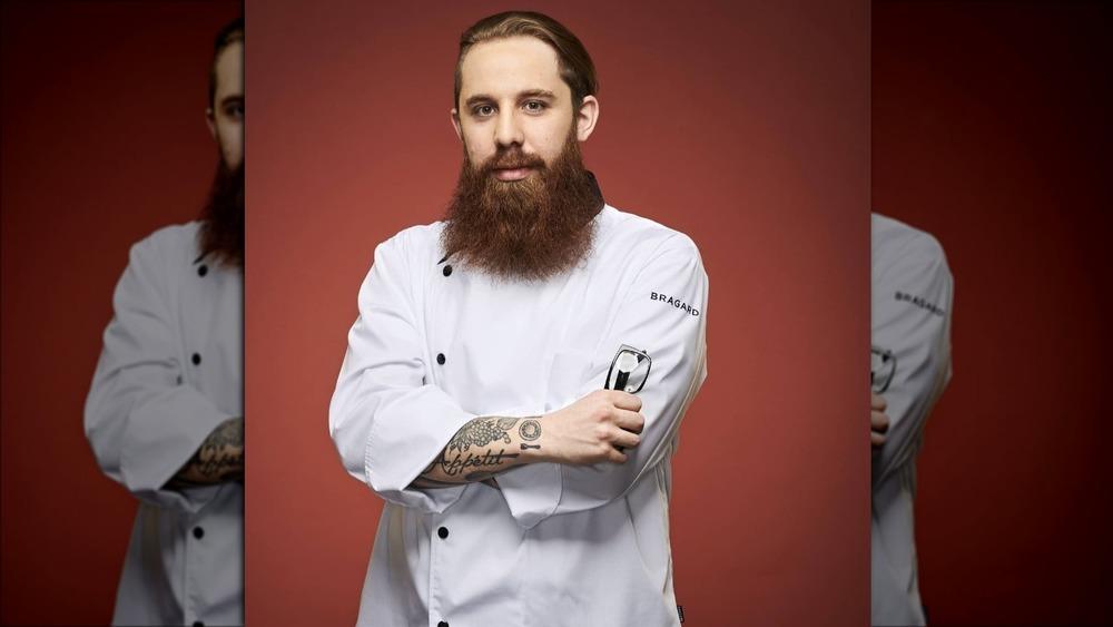 Adam Pawlak in chef's whites