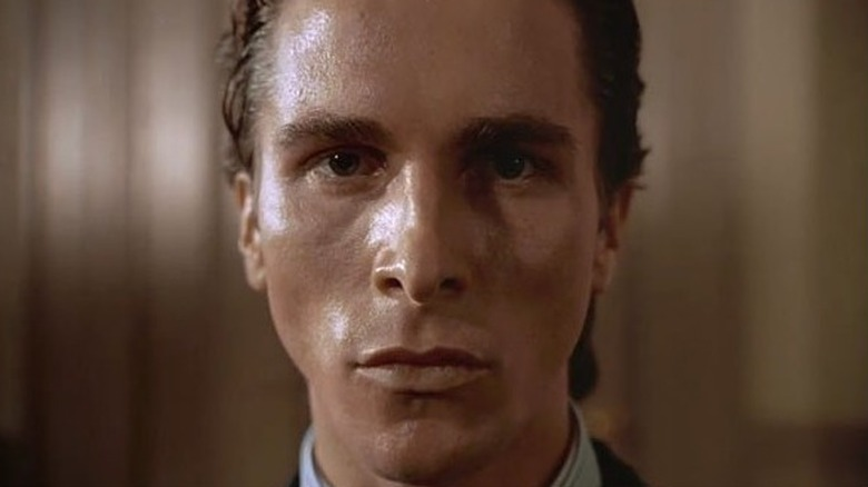 Close-up of Christian Bale in American Psycho