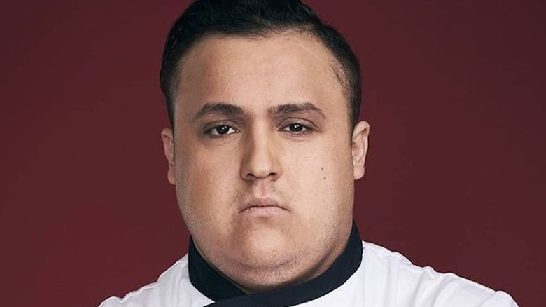 "Antonio Ruiz posing for ""Hell's Kitchen"""