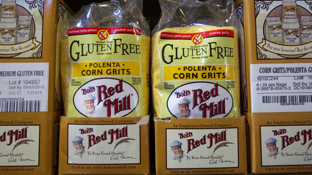 Bags of gluten free flours