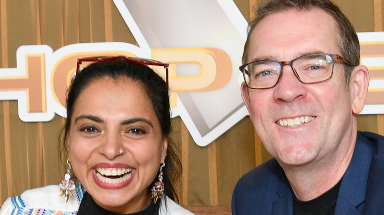 Maneet Chauhan and Ted Allen