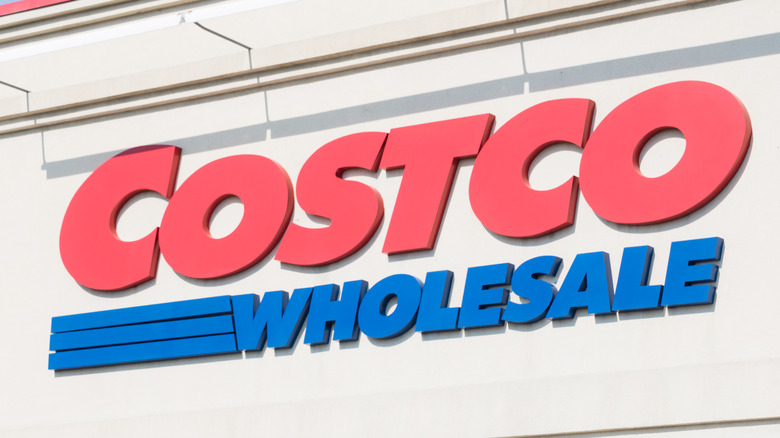 Red and blue Costco logo on exterior building