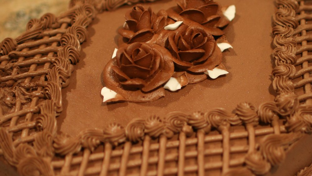 Chocolate Costco sheet cake