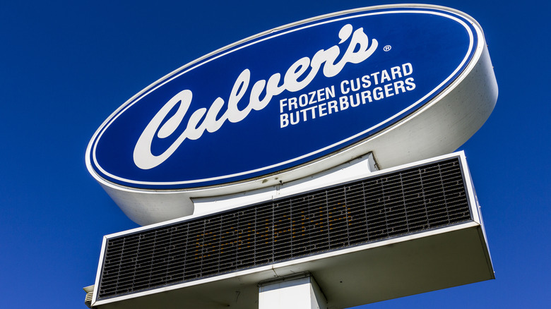 Culver's sign in the sky