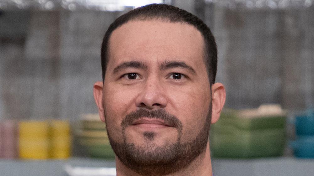 Dayron Santamaria with mustache