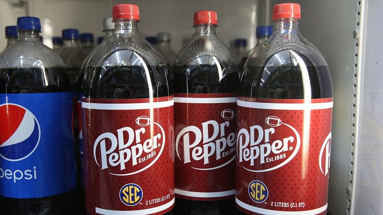 Bottles of Dr. Pepper