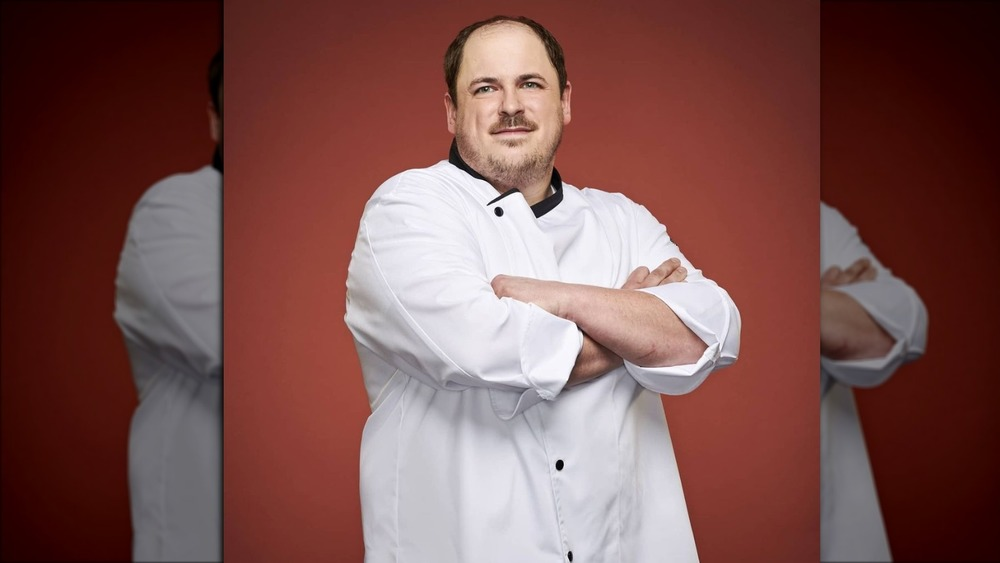 Drew Tingley in chef's outfit