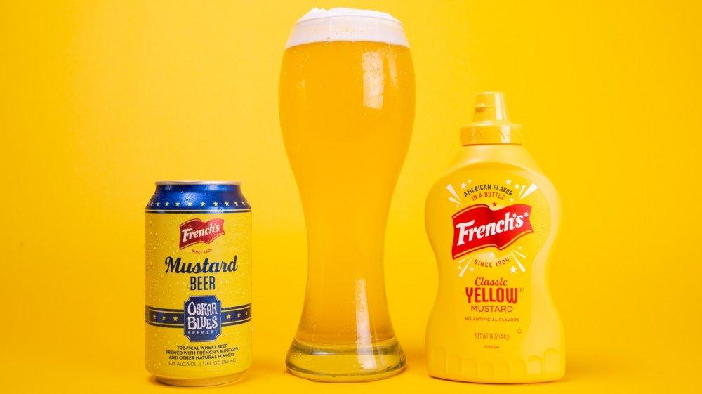 Oskar Blues Brewery French's Mustard Beer