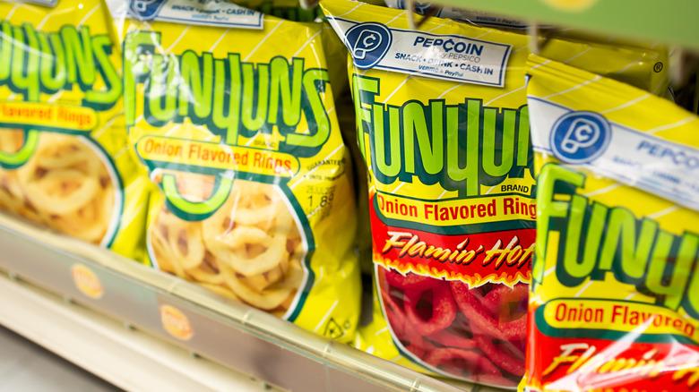 Funyuns on store shelf