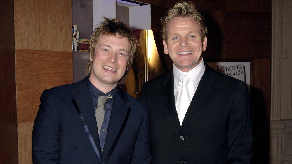 Chefs Jamie Oliver and Gordan Ramsay