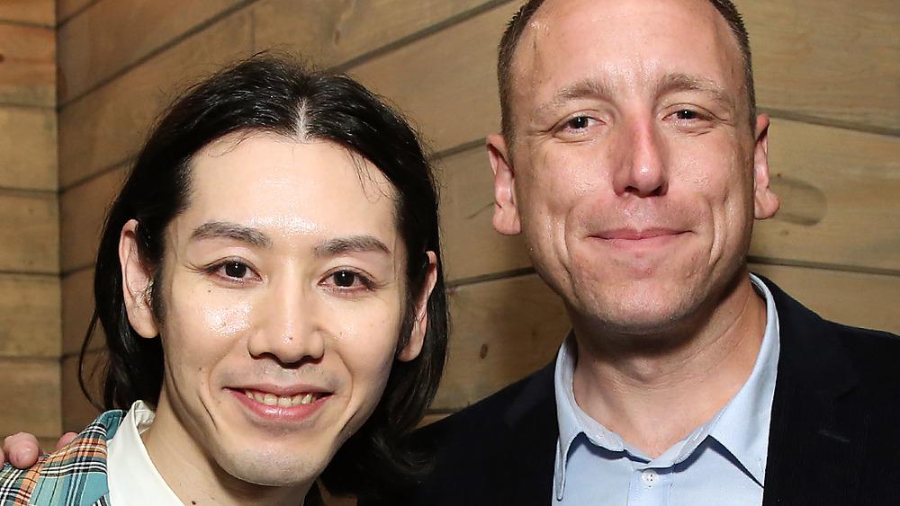 Takeru Kobayashi and Joey Chestnut
