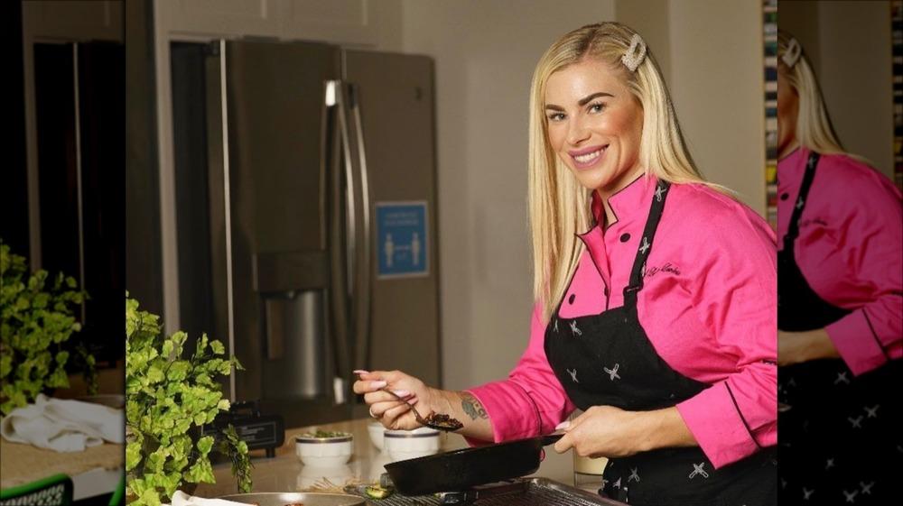 Chef Lauren Lawless cooking